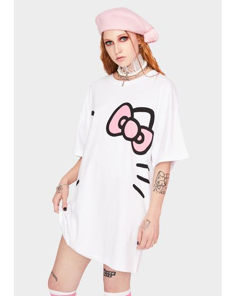 Hello Kitty Oversized T-Shirt Dress