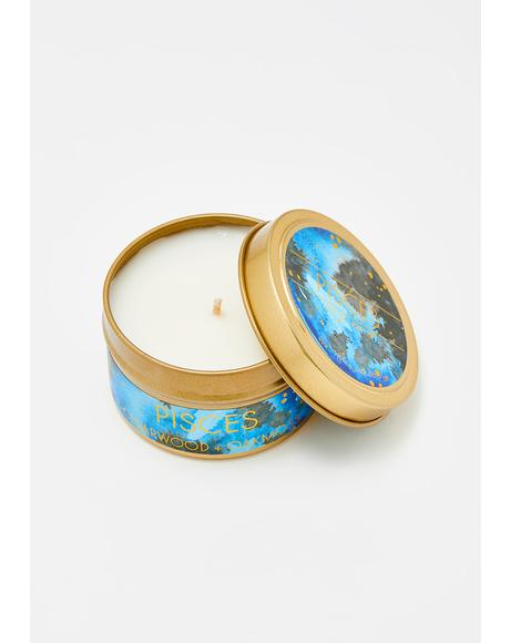 Pisces Travel Tin Candle