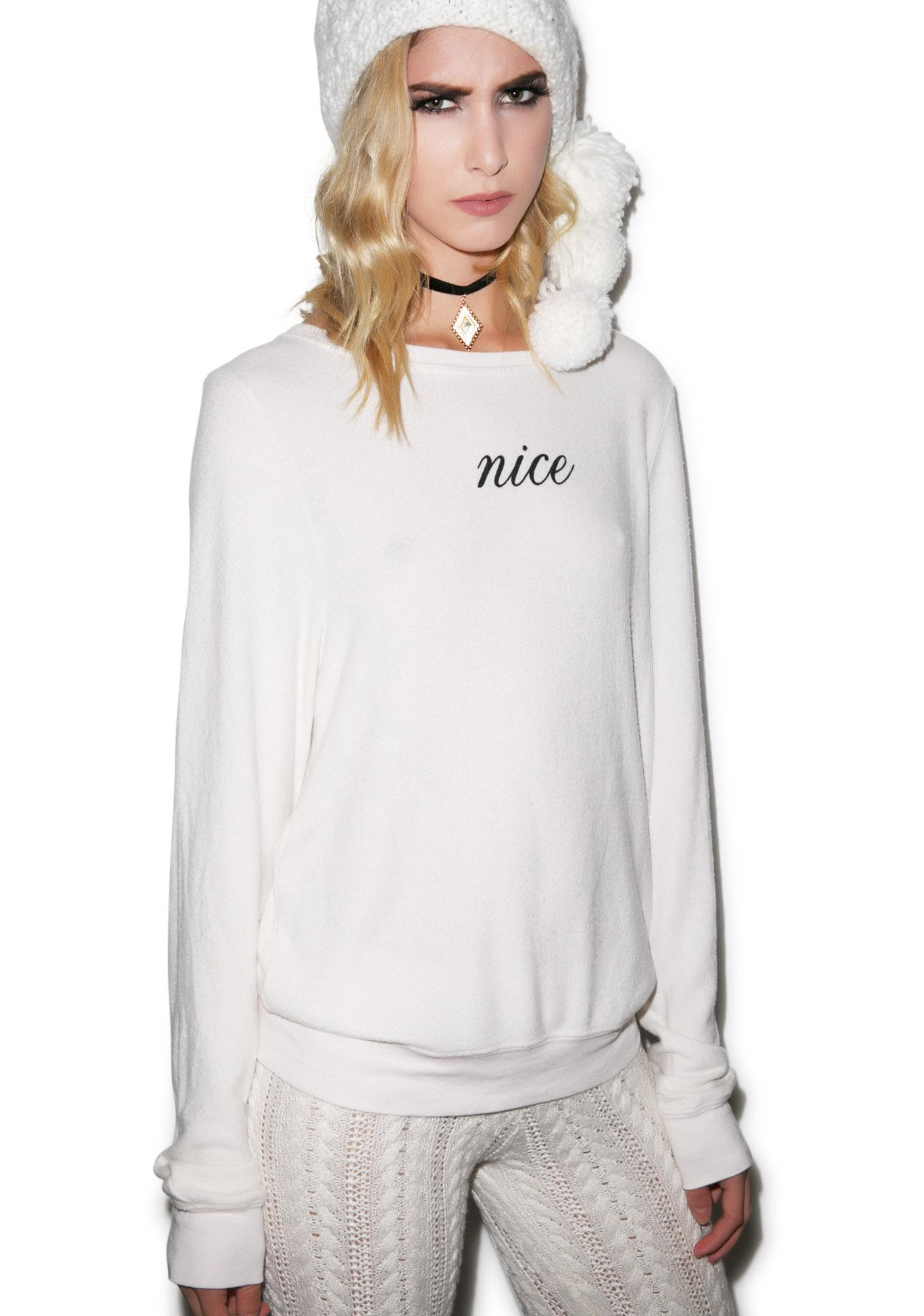 Wildfox Couture Nice Baggy Beach Jumper
