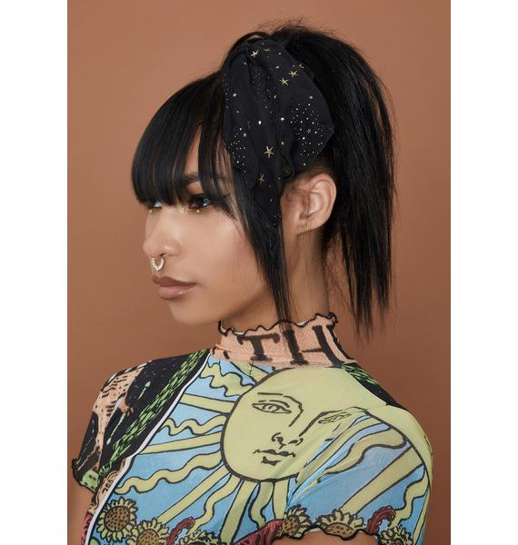 Into The Cosmos Scarf Scrunchie