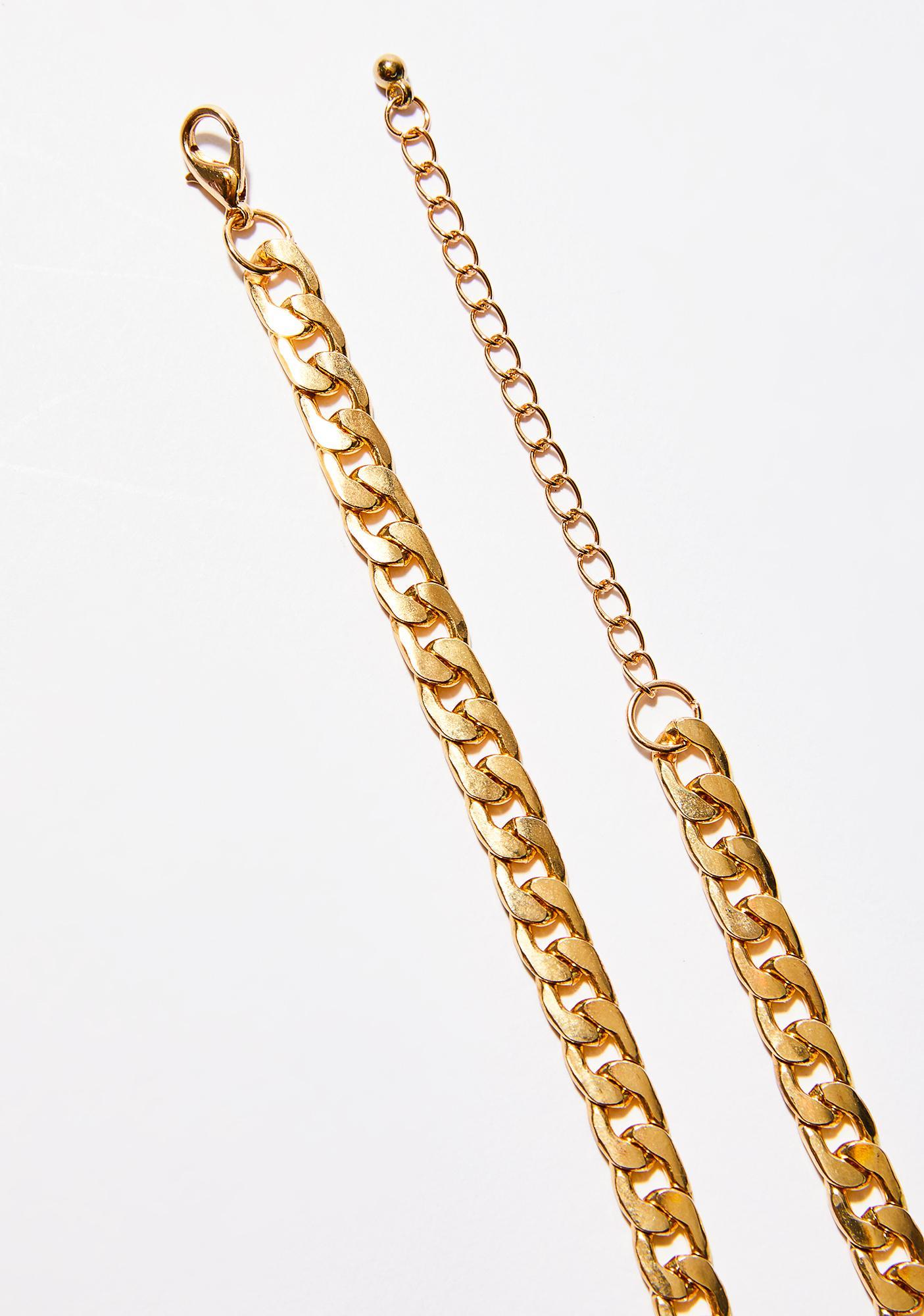 Gold Around The Way Chain Choker