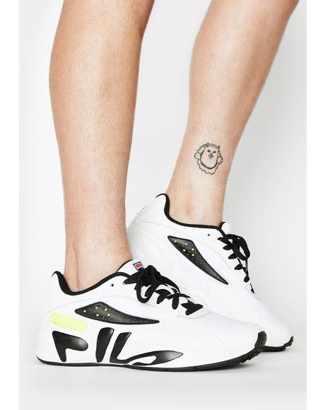 Unisex White Mindblower Sneakers