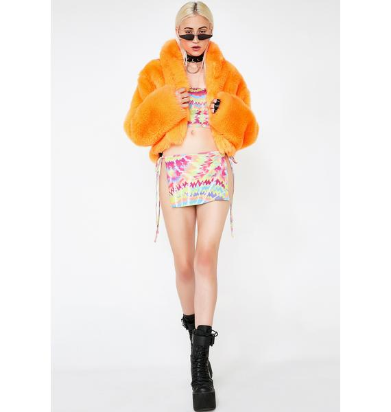 Club Exx Juiced Plush Funk Fur Coat