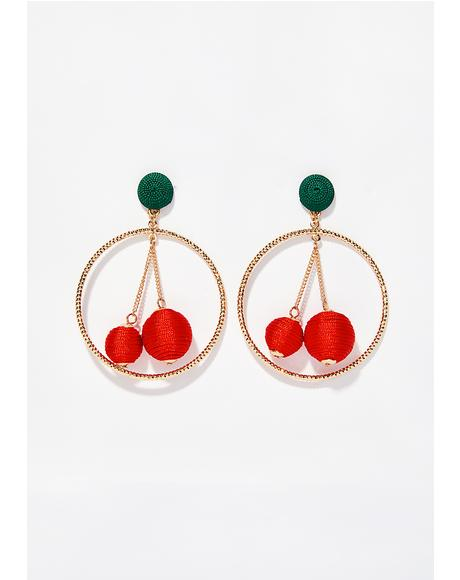 Wild Cherry Child Earrings