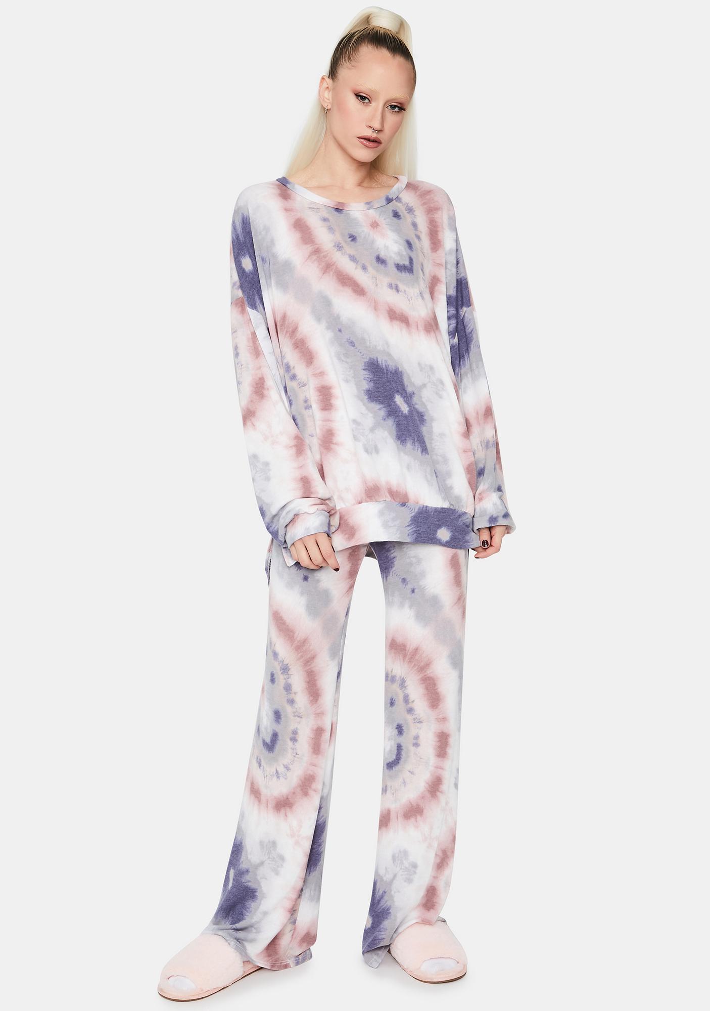 Aqua Coast Cruisin' Tie Dye Crewneck Pullover