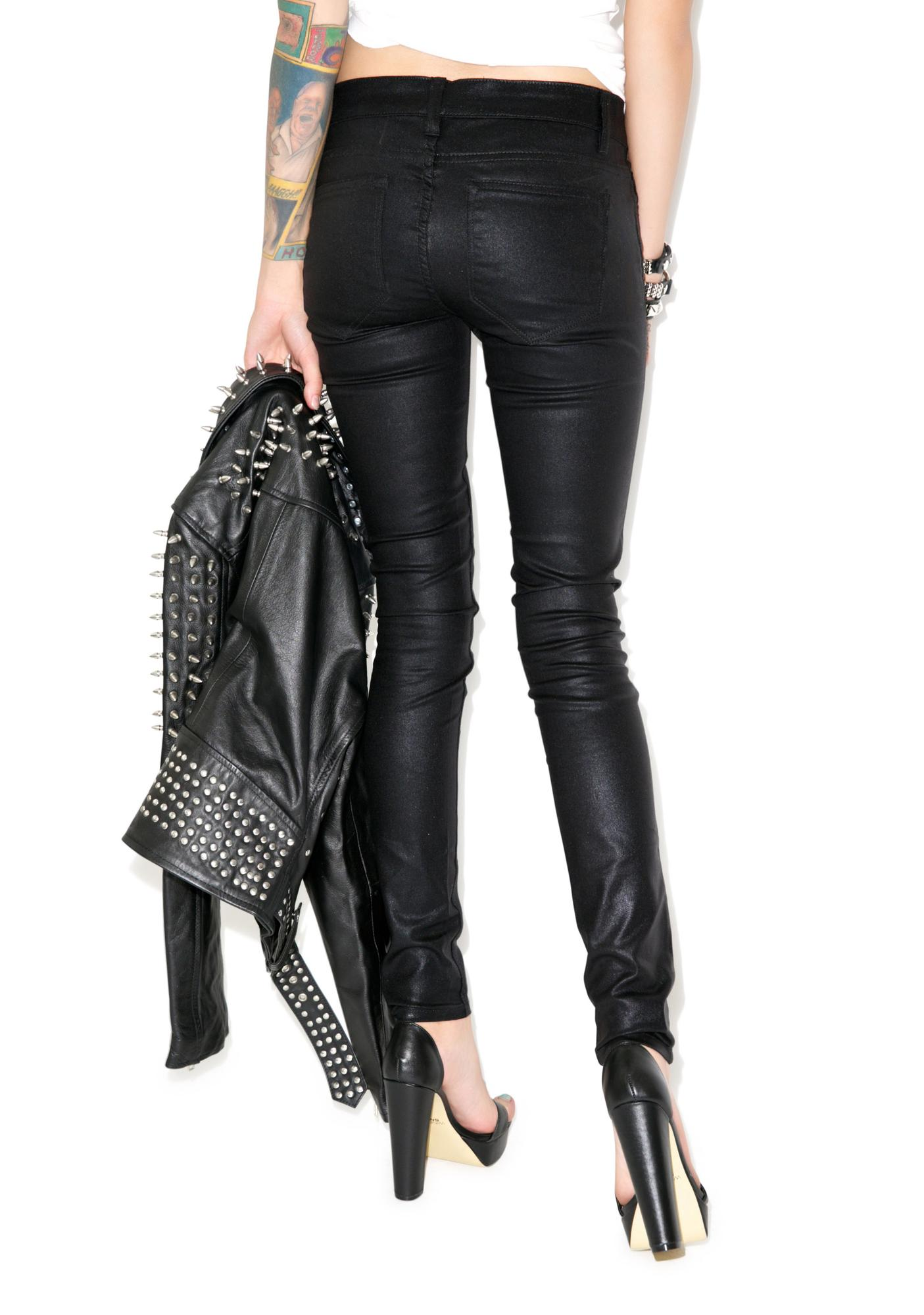 Lip Service Shimmer Slick Stretch Jeans