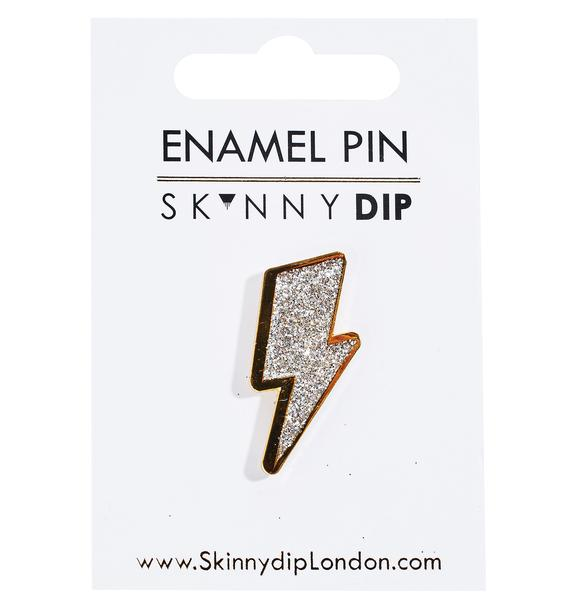 Skinnydip Lightning Bolt Pin