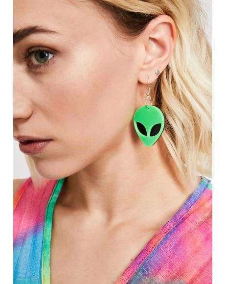 Ultrasonic Unknown Alien Earrings