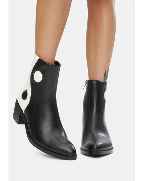 Balancing Act Vegan Leather Boots