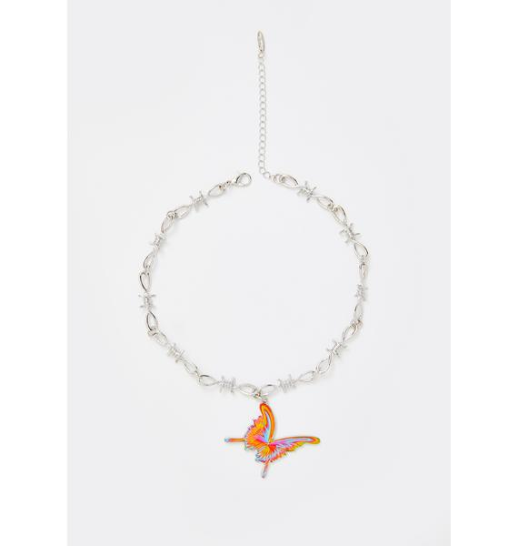 Butterfly Barbz Chain Necklace