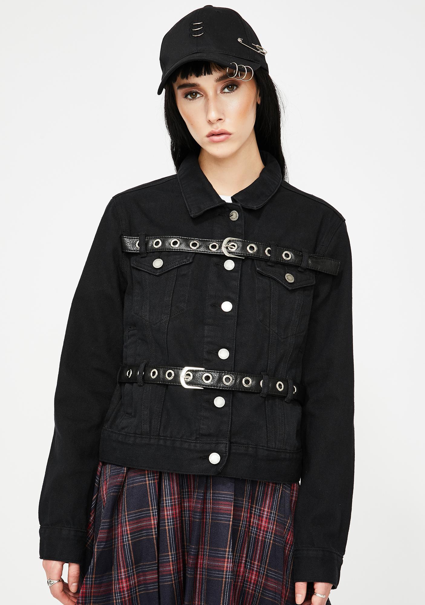 Disturbia Caged Denim Jacket