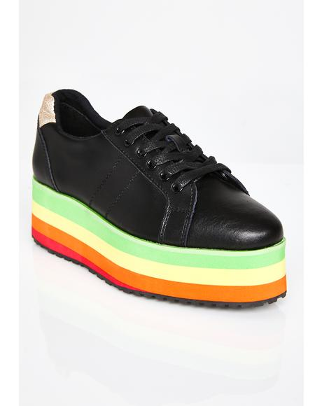 Blackout Jukebox Rainbow Sneakers