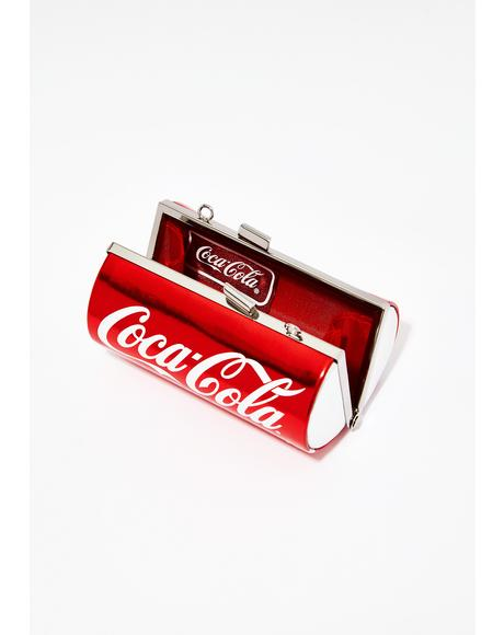 But First A Coca-Cola Can Clutch