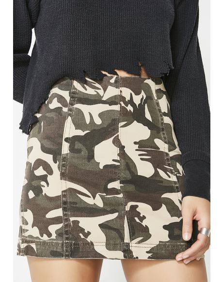 Come At Me Camo Skirt