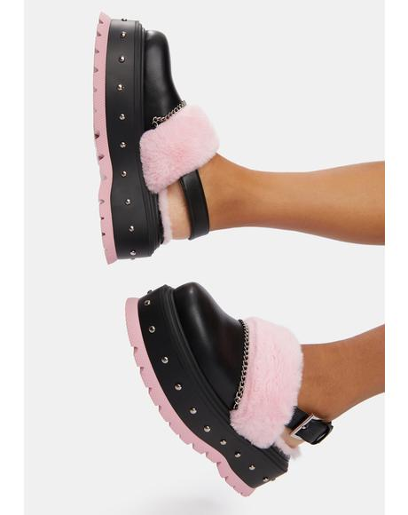 Chibi Faux Fur Sandals
