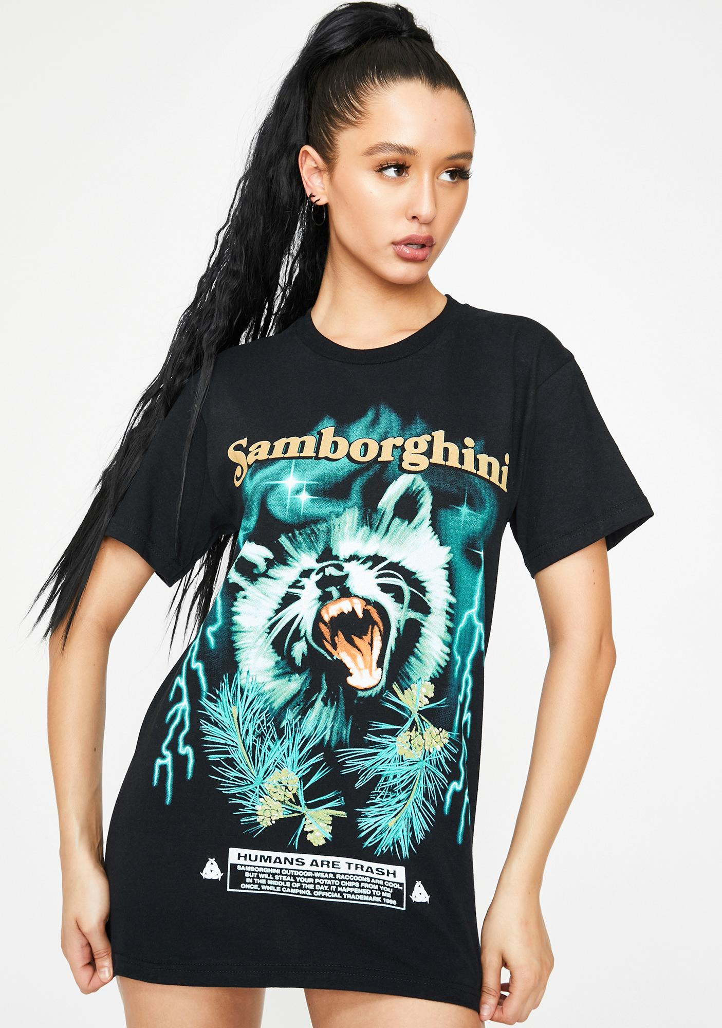 Samborghini Raccoon Graphic Tee