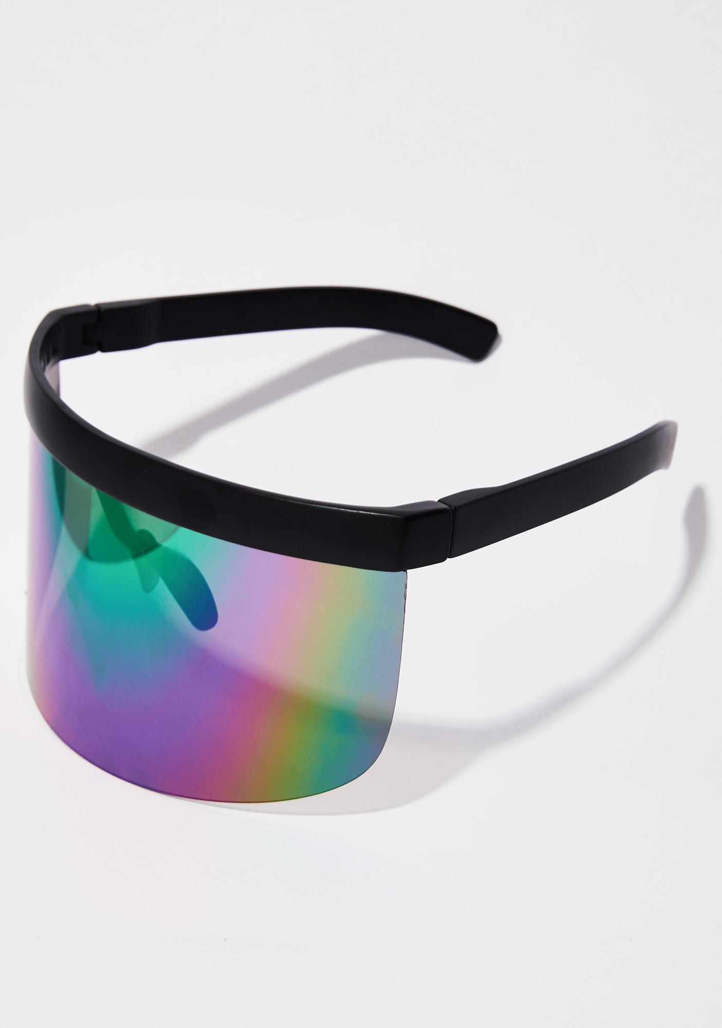 Rainbow Shock Waves Shield Sunglasses