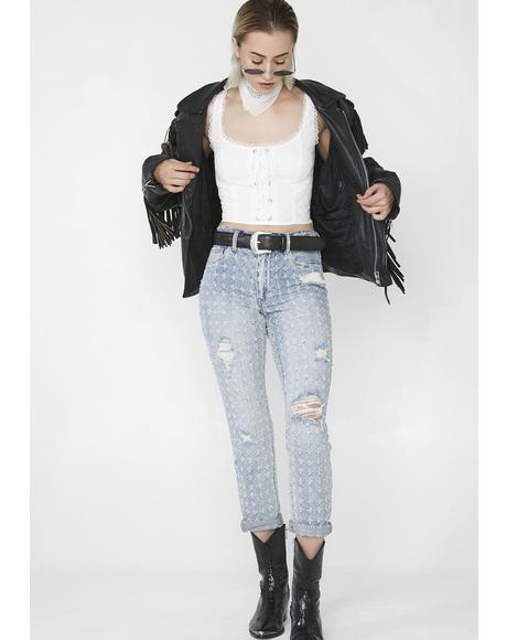 Punch Line Cropped Jeans