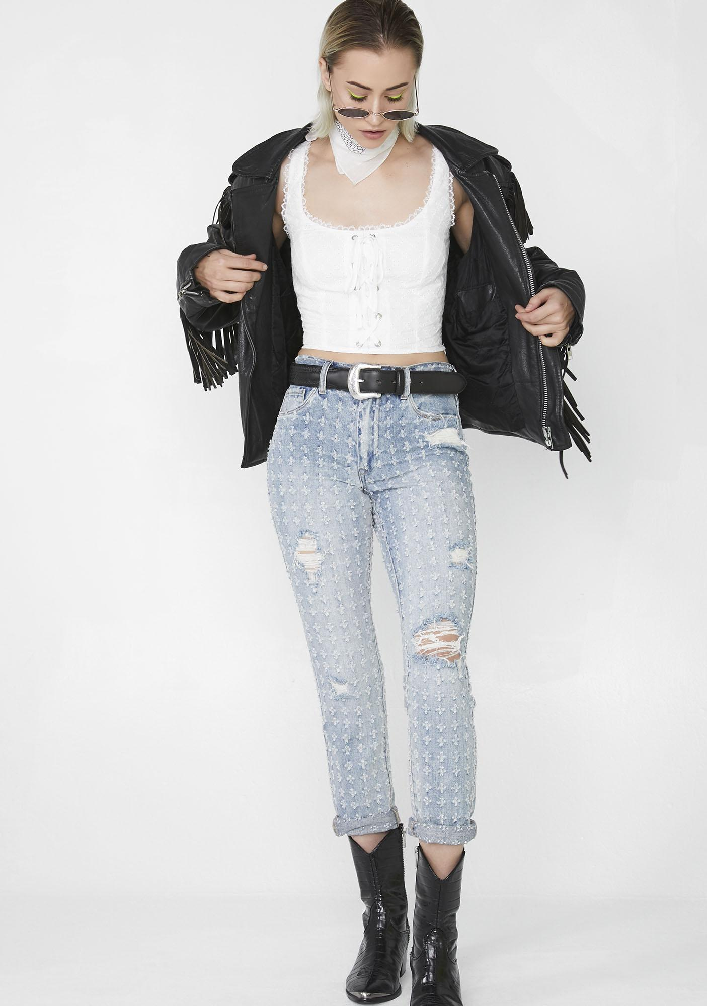Blank NYC Punch Line Cropped Jeans