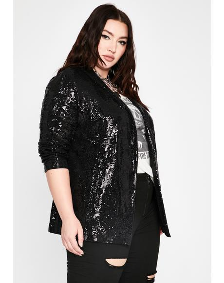 Wicked Lux Bold Stunna Sequin Blazer