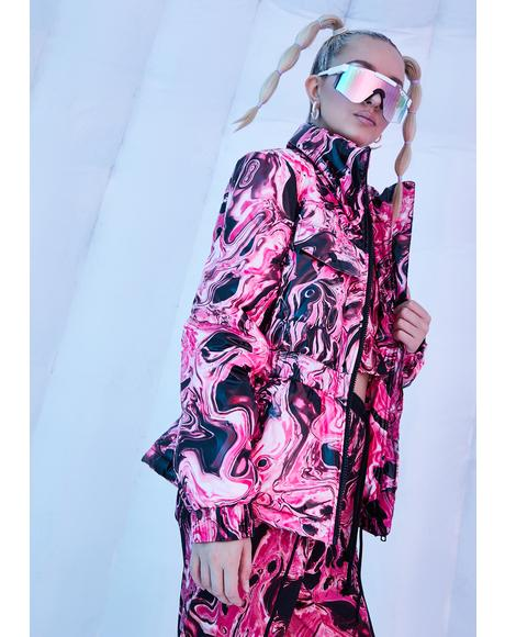 Lady Acid Dimension Puffer Jacket
