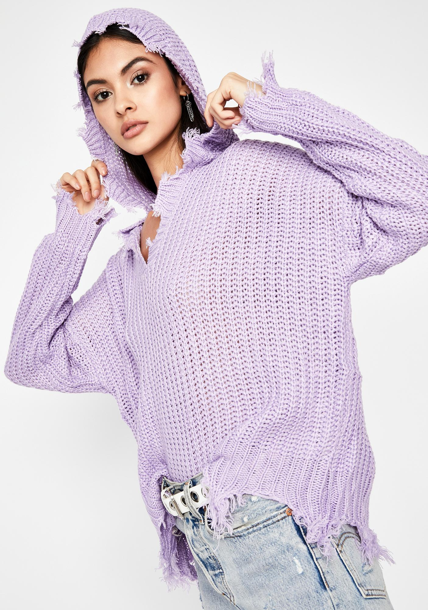Plum Never Expected Pullover Sweater