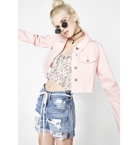 Fave Rida Cropped Denim Jacket