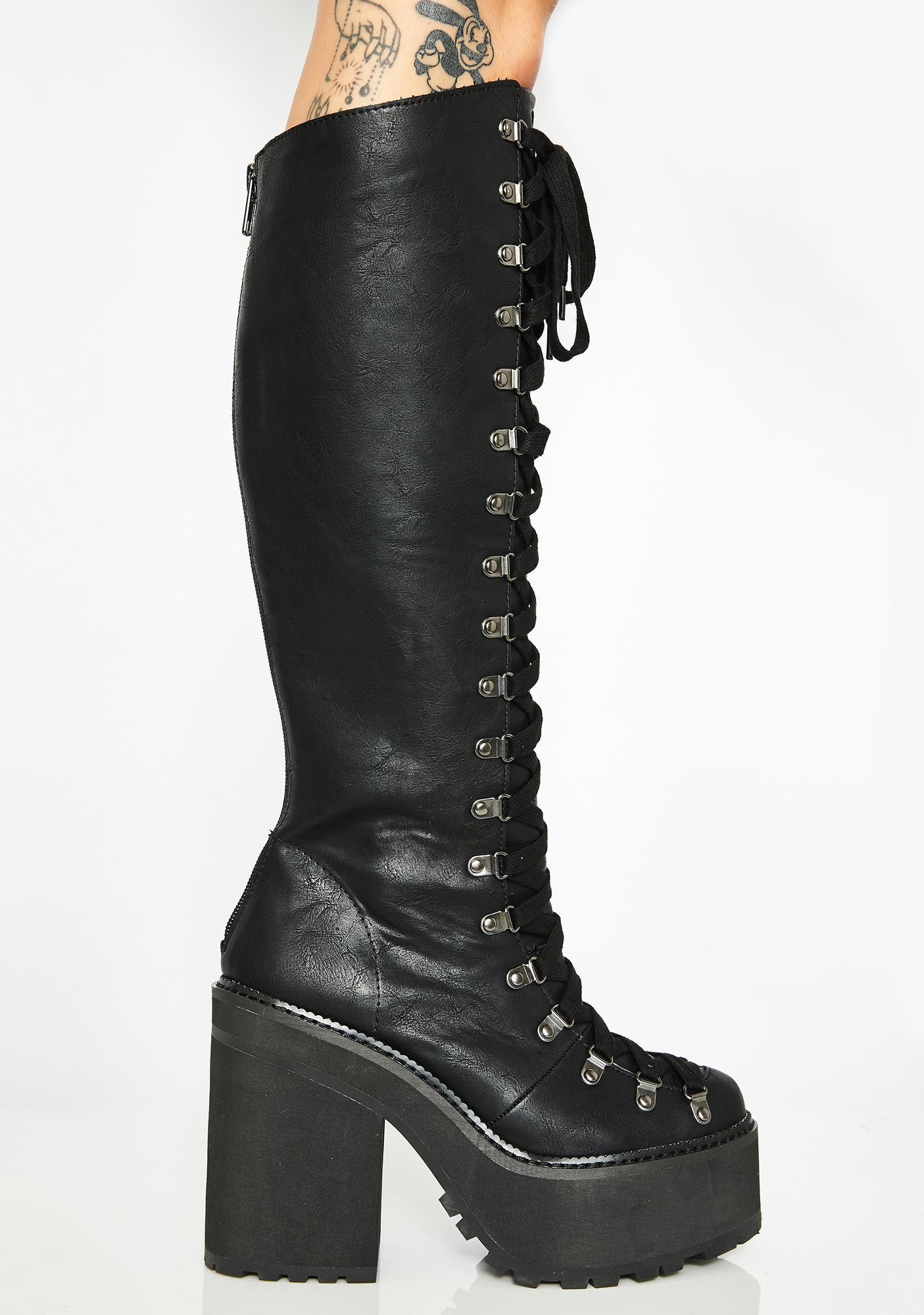 Killstar Bloodletting Knee High Boots