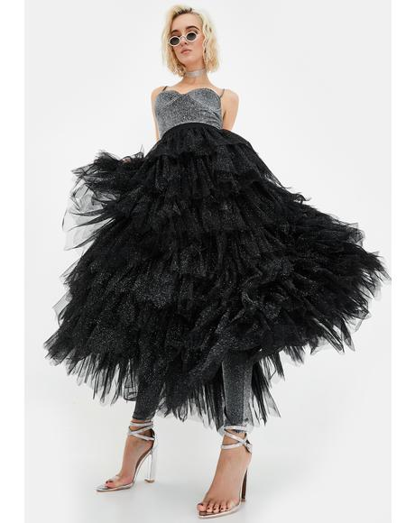Lilith Tulle Maxi Skirt