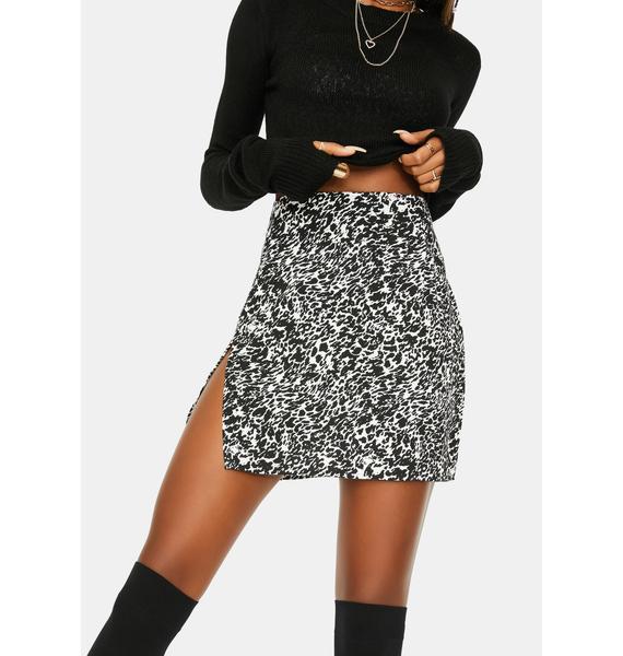 Motel Abstract Animal Shenka Mini Skirt