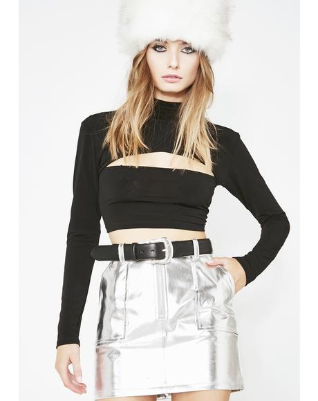Platinum Material Gurl Metallic Skirt