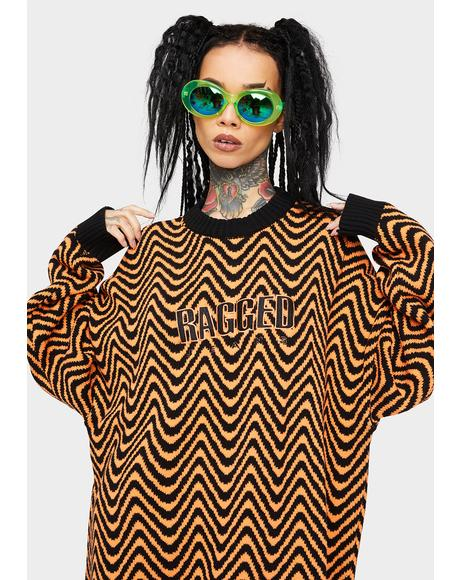 Orange Black Striped Jumper