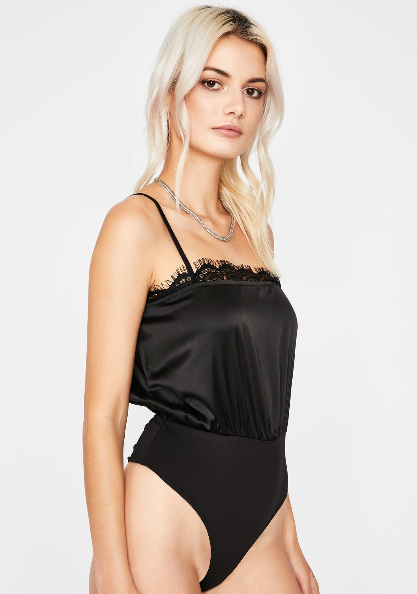 Dark Fancy Me Satin Bodysuit