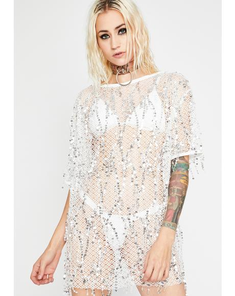 Drippin' Glory Sheer Dress