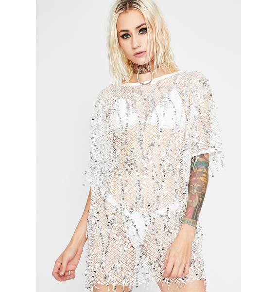 Drippin' Glory Sheer Dress