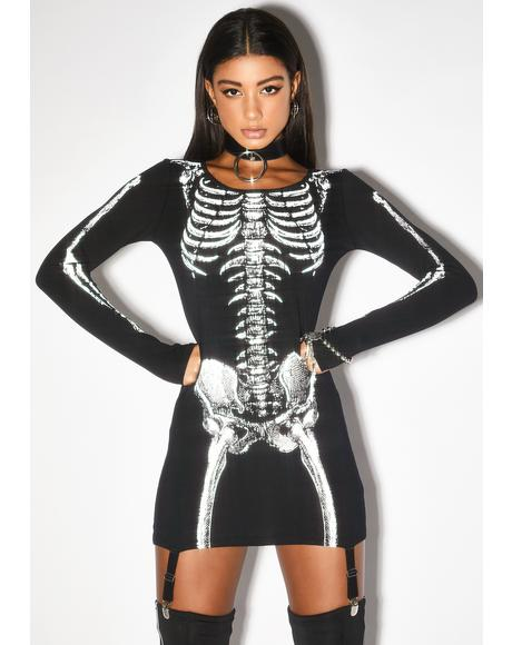 Cold To The Bone Reflective Dress