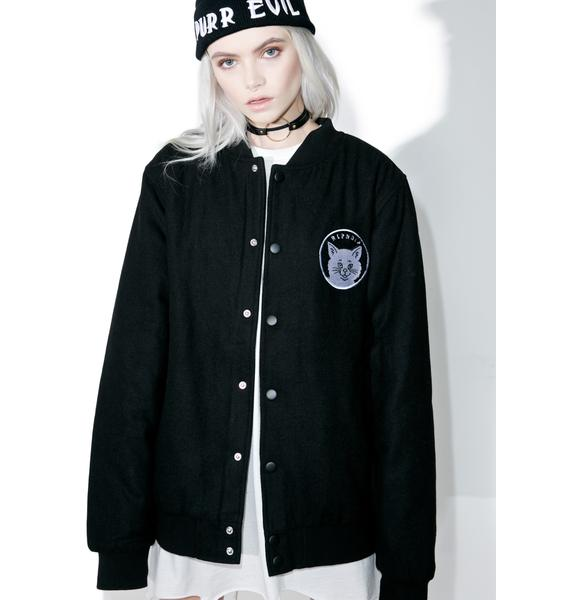 RIPNDIP Stop Being A Pussy Varsity Jacket