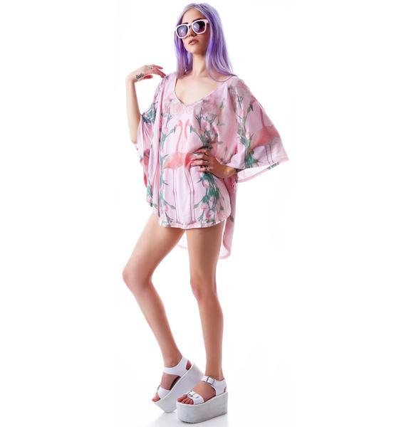 Wildfox Couture Florida Garden Butterfly Tunic