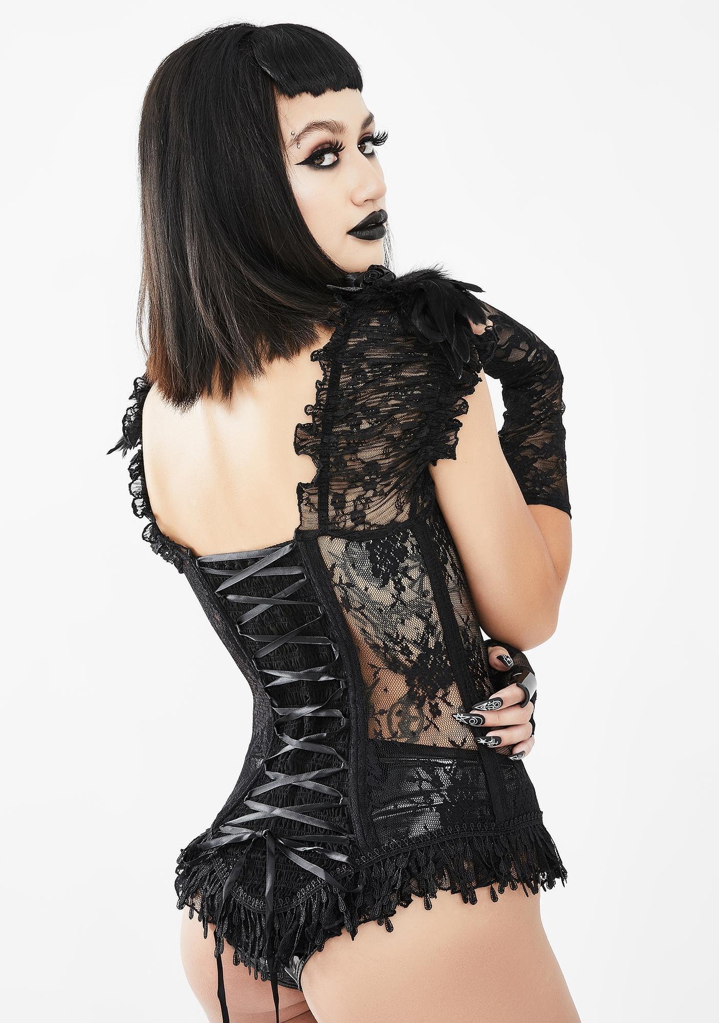 Eva Lady Frilly Lace Button Up Blouse
