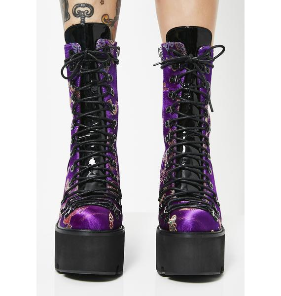 Current Mood Dynasty Brocade Platform Boots