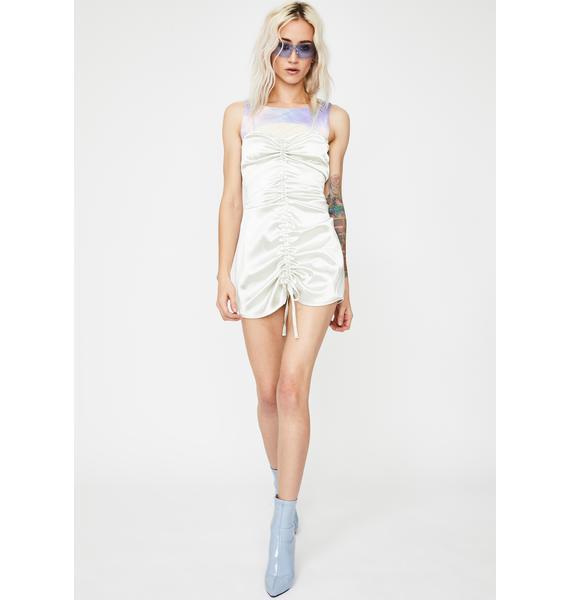 ZEMETA Tie Dye Silky Dress Two-Piece Set