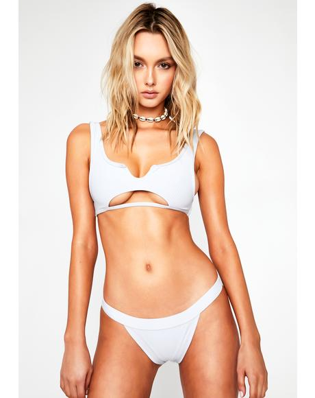 White Cole Bikini Bottoms