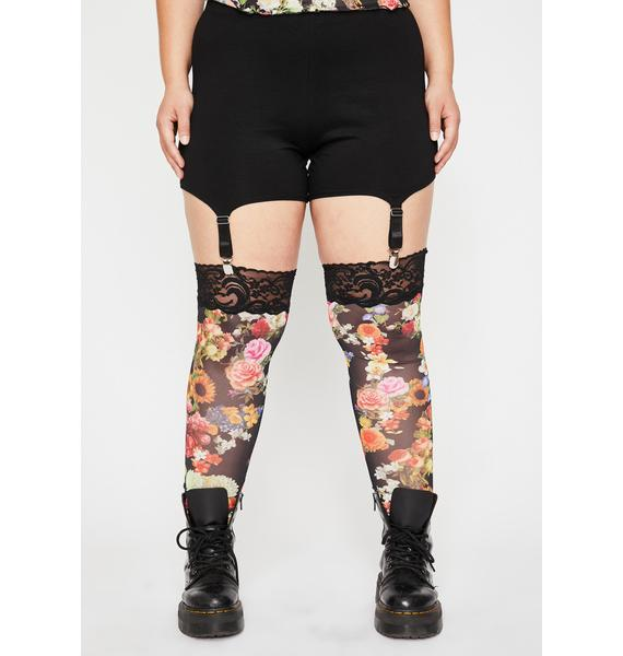 Current Mood Rare Blooming Commotion Garter Leggings