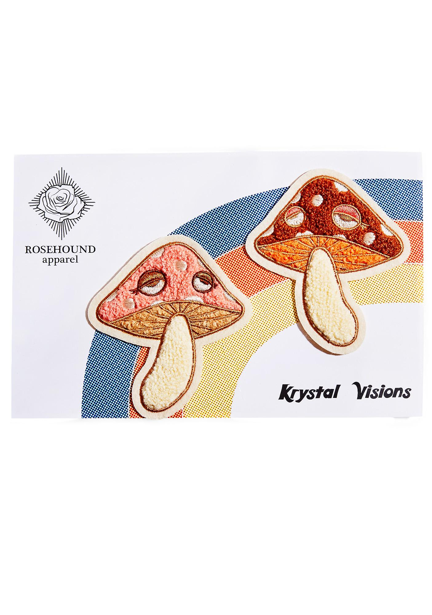 Rosehound Apparel Mushroom Felt Patch Set