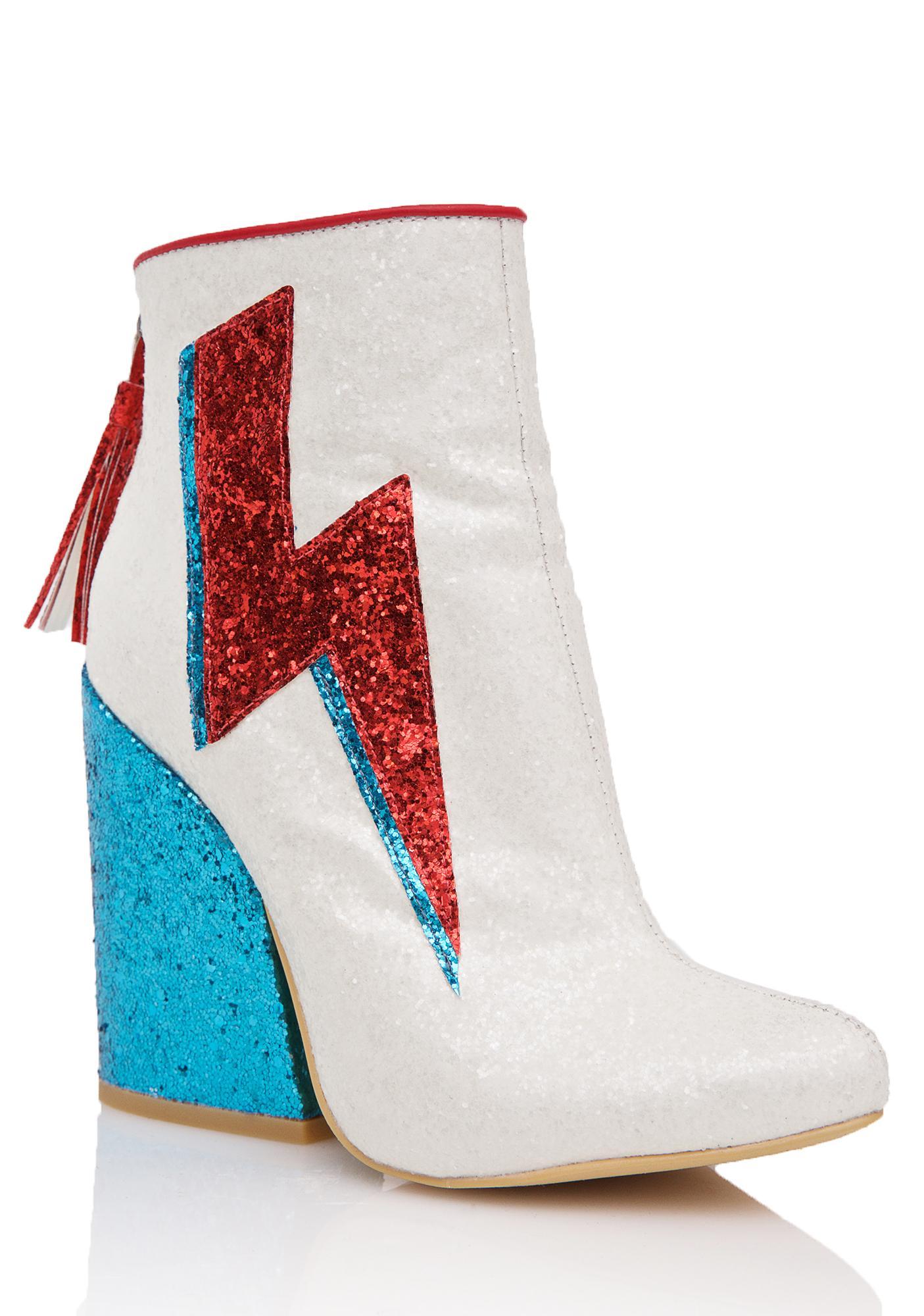 Y.R.U. Ziggy Dust Sparkle Lightning Boots