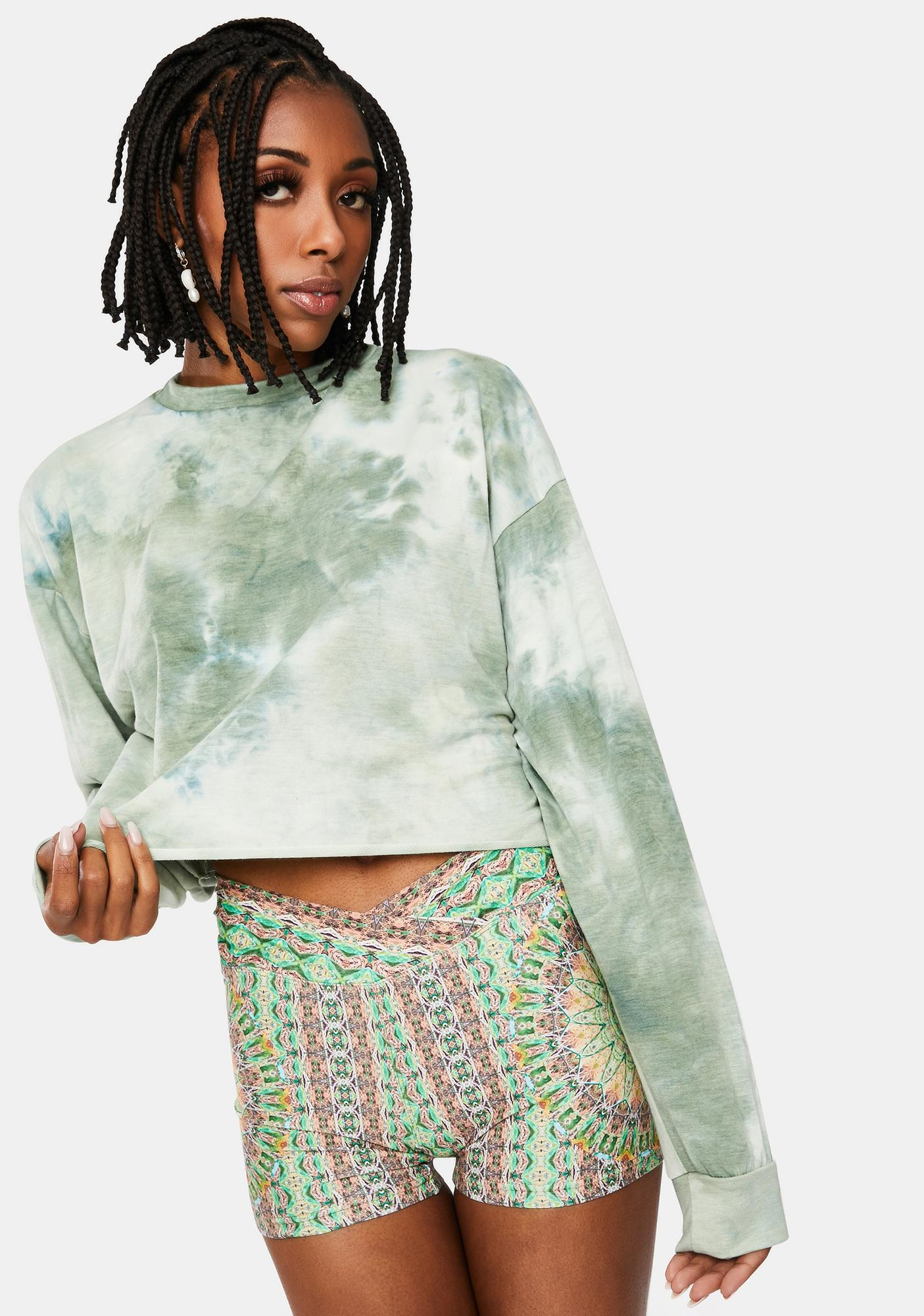Sage Ultimate Crush Tie Dye Crewneck Sweatshirt