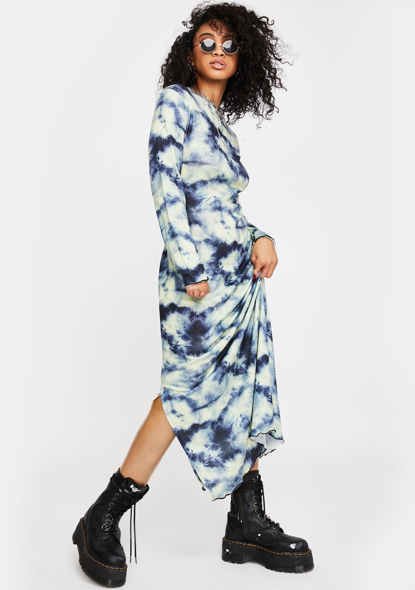 NEW GIRL ORDER Tie Dye Maxi Dress