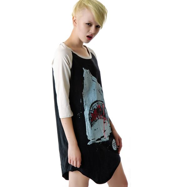 Jaws Shark Raglan Shirt