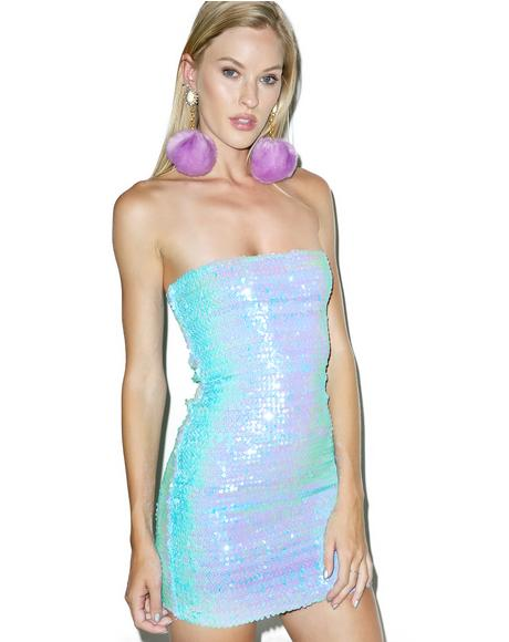 One More Time Sequin Dress
