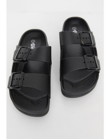 Sleek Freak Buckle Sandals